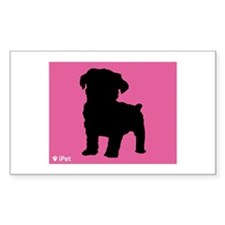 Schnoodle iPet Rectangle Decal