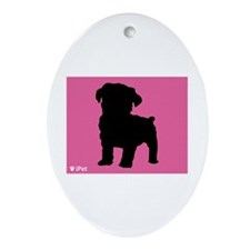 Schnoodle iPet Oval Ornament