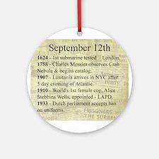 September 12th Ornament (Round)