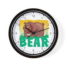 Kid Friendly Bear Wall Clock