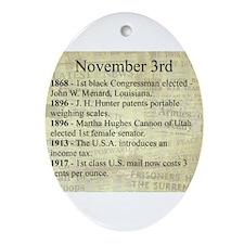 November 3rd Ornament (Oval)