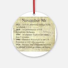 November 9th Ornament (Round)