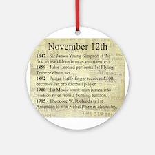 November 12th Ornament (Round)