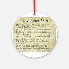 November 28th Ornament (Round)
