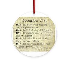 December 21st Ornament (Round)