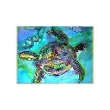 Sea Turtle, Wildlife art! 5'x7'Area Rug