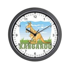 Kid Friendly Kangaroo Wall Clock