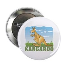 "Kid Friendly Kangaroo 2.25"" Button (10 pack)"