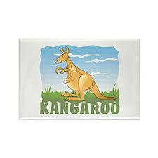 Kid Friendly Kangaroo Rectangle Magnet
