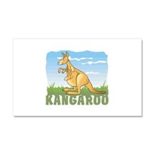 Kid Friendly Kangaroo Car Magnet 20 x 12