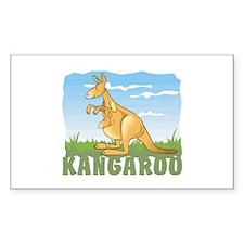 Kid Friendly Kangaroo Decal