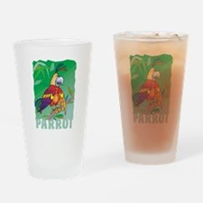 Kid Friendly Parrot Drinking Glass