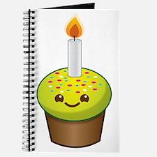 Cutie Kawaii Happy Birthday Cupcake Journal