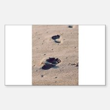 Footprints In The Sand Decal