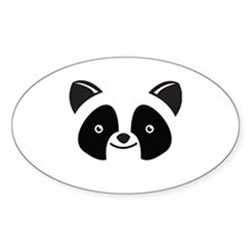 Super Kawaii panda Face smiling Decal