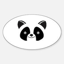 Super Kawaii panda Face smiling Sticker (Oval)