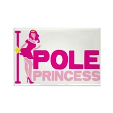 POLE PRINCESS with sexy lady and  Rectangle Magnet