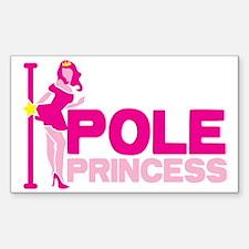 POLE PRINCESS with sexy lady a Sticker (Rectangle)