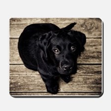 Black Lab Puppy Mousepad