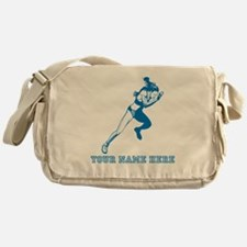 Custom Blue Woman Sprinter Messenger Bag