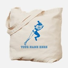 Custom Blue Woman Sprinter Tote Bag