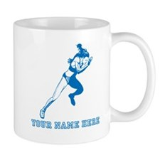 Custom Blue Woman Sprinter Mugs