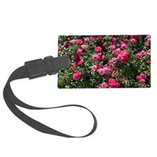 Rose bush with flowers  Luggage Tag