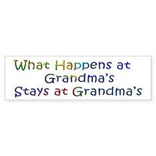 What Happens / Stays at Grandma's Bumper Sitcker