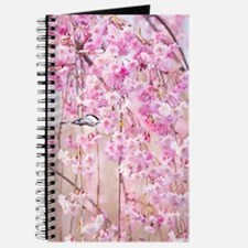 Black Cap Chicakdee In Pink Weeping Willow Journal