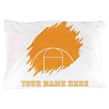 Custom Orange Basketball Court Pillow Case