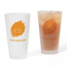 Custom Orange Basketball Court Drinking Glass