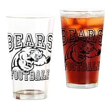 Bears Football Drinking Glass