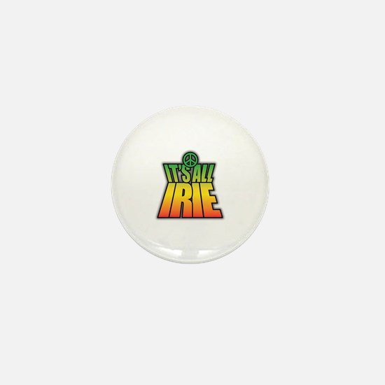 It's All Irie-Peace Mini Button