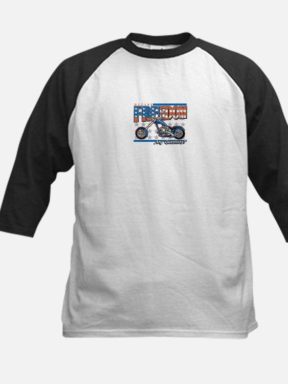 Define Freedom Motorcycle Kids Baseball Jersey