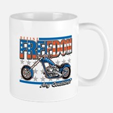Define Freedom Motorcycle Mug