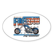Define Freedom Motorcycle Decal
