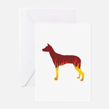 PIO Flames Greeting Cards (Pk of 10)