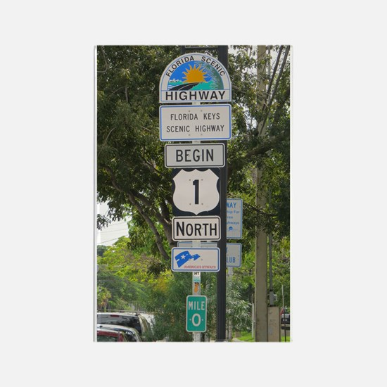 Highway One Key West Magnets