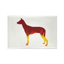 PIO Flames Rectangle Magnet (10 pack)