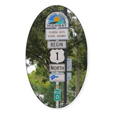 Highway One Key West Decal