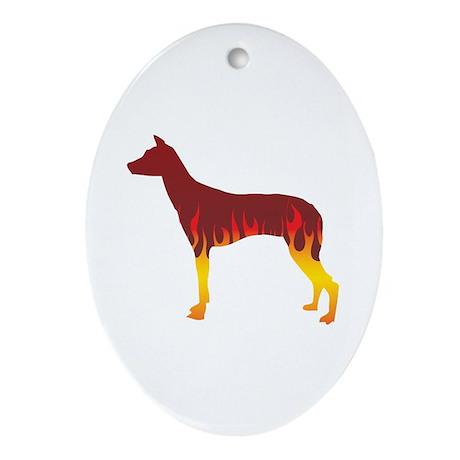 PIO Flames Oval Ornament