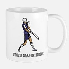 Custom Softball Batter Cartoon Mugs