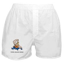 Custom Cartoon Wrestler Boxer Shorts