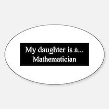 Daughter - Mathematician Decal
