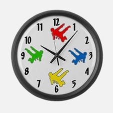 Martial Arts School Large Wall Clock