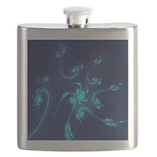 Blue Fractal Flowers Flask