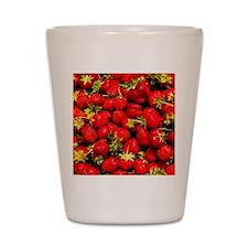 Strawberries Shot Glass