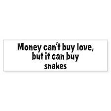 snakes (money) Bumper Bumper Sticker