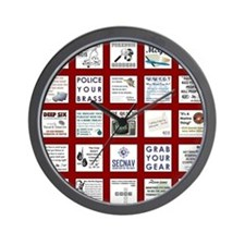 NCIS PATCHWORK QUILT Wall Clock