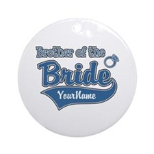 Brother of the Bride Ornament (Round)